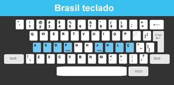 Brasil teclado
