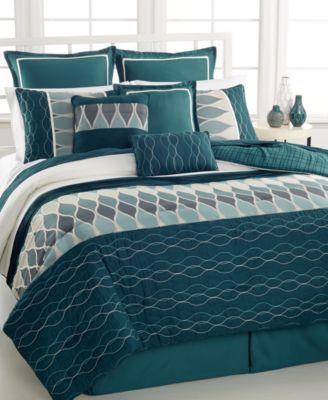 CLOSEOUT! Intrigue 10-Pc. King Comforter Set | macys.com