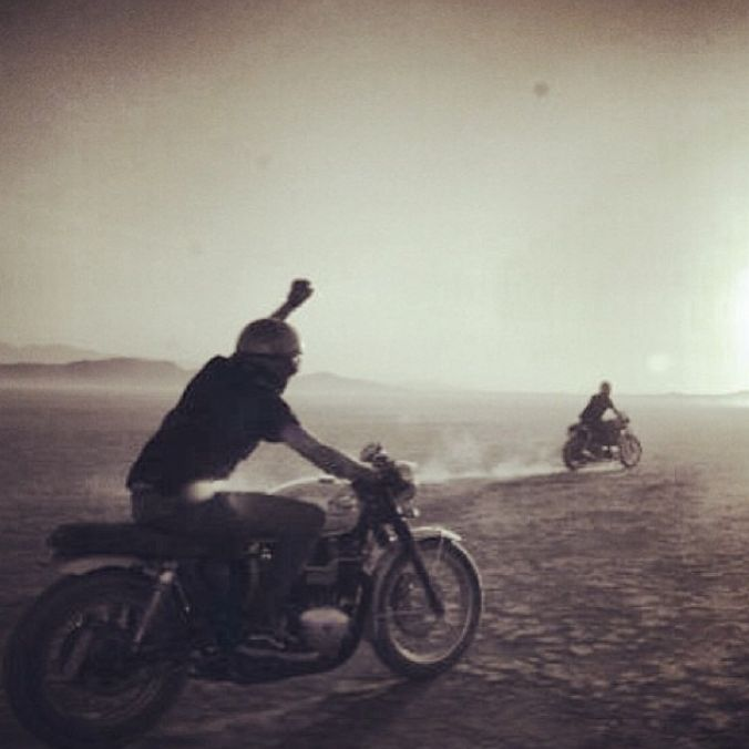 FREEDOM!!! #riding #motorcycles #motos | caferacerpasion.com