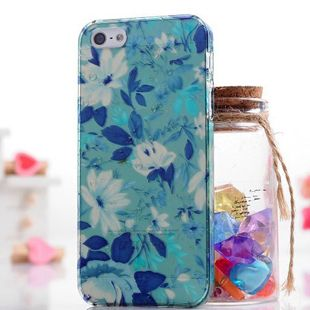 3D Rhinestone Raindrop Flower Vine Transparent Back Case for iPhone 5C  with Crystal Box Free Ship $5.99