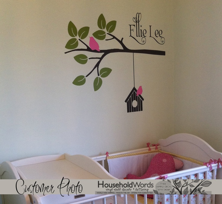Personalized Baby vinyl wall - very sweet