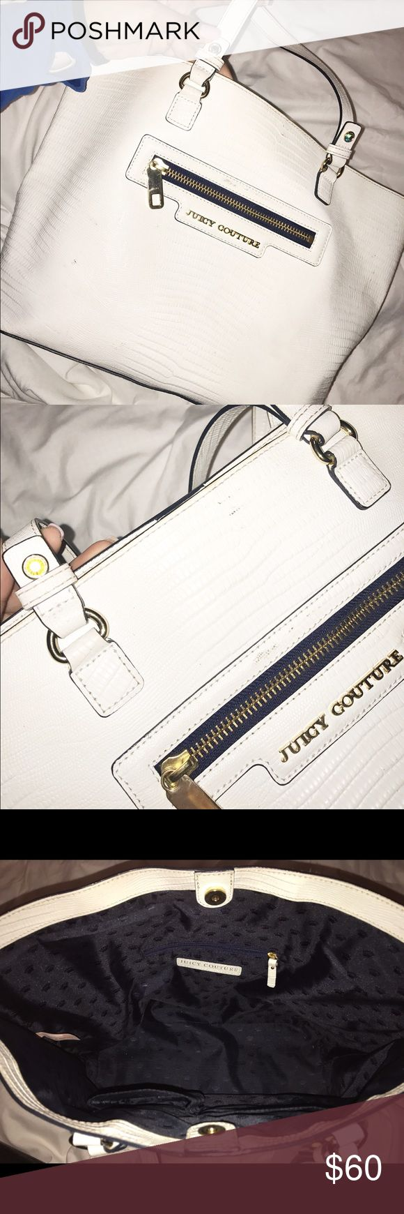 White Juicy Couture purse! Selling a white Juicy Couture purse! So beautiful & the perfect size! Make me a reasonable offer! Priced to sell! Juicy Couture Bags Shoulder Bags