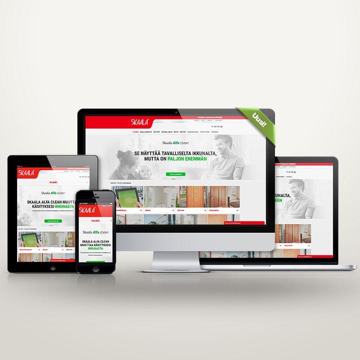 Mukautuva verkkosivusto, Responsive website, Skaala ikkunat ja ovet Oy