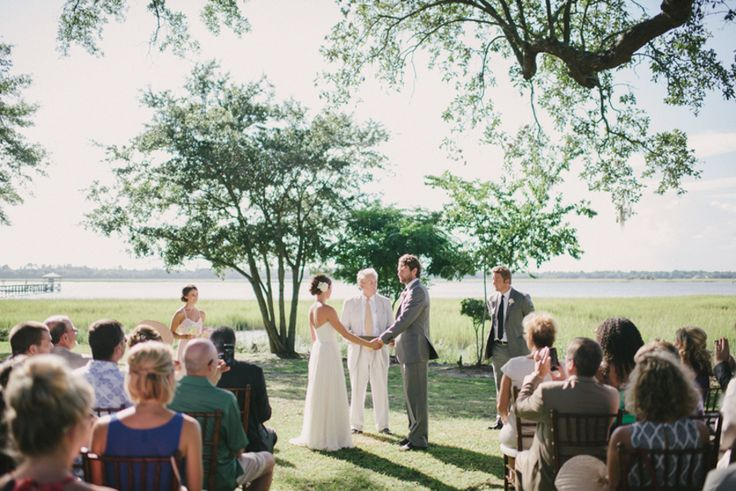 Amanda & Joe's summer wedding at The River House at Lowndes Grove Plantation in Charleston, South Carolina | Photo by Sean Money & Elizabeth Fay