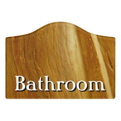 Pine Wood II Faux Wooden Texture Door Sign -nature diy customize sprecial design