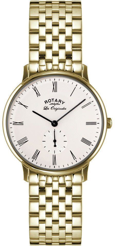 Rotary Watch Les Originales Gents #add-content #bezel-fixed #bracelet-strap-gold #brand-rotary #case-material-yellow-gold #case-width-38mm #classic #delivery-timescale-1-2-weeks #dial-colour-white #gender-mens #movement-quartz-battery #official-stockist-for-rotary-watches #packaging-rotary-watch-packaging #style-dress #subcat-les-originales #supplier-model-no-gb90052-01 #warranty-rotary-official-lifetime-guarantee #water-resistant-waterproof