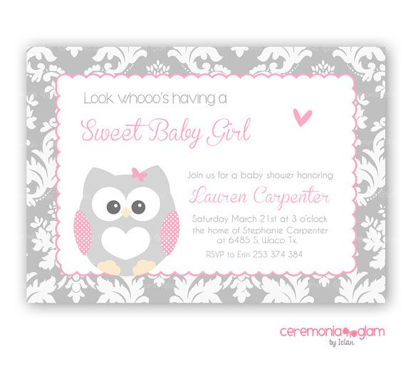 Vintage Owl Baby Shower Invitations: 99 Best Images About Baby Shower Invitations On Pinterest