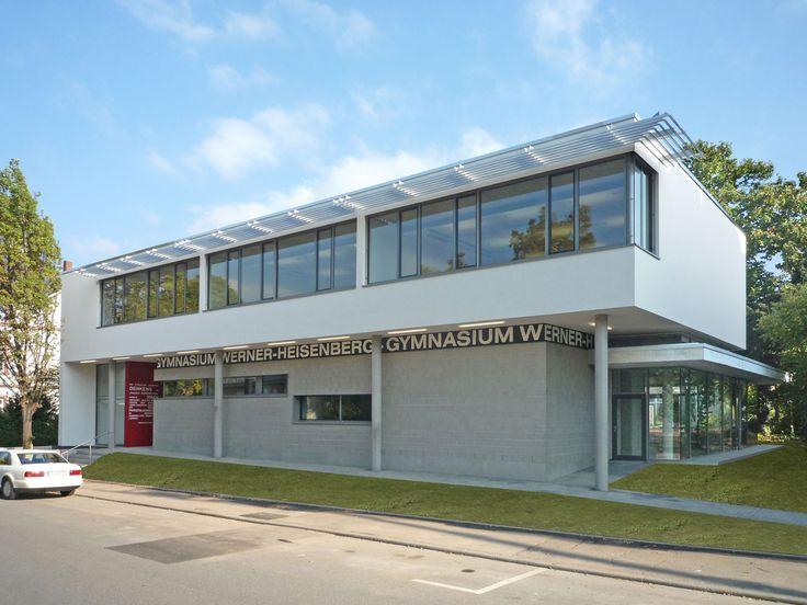 Mensa mit Klassenräumen, Schulerweiterung, Werner-Heisenberg-Gymnasium, Weinheim, Schule – Weber und Partner