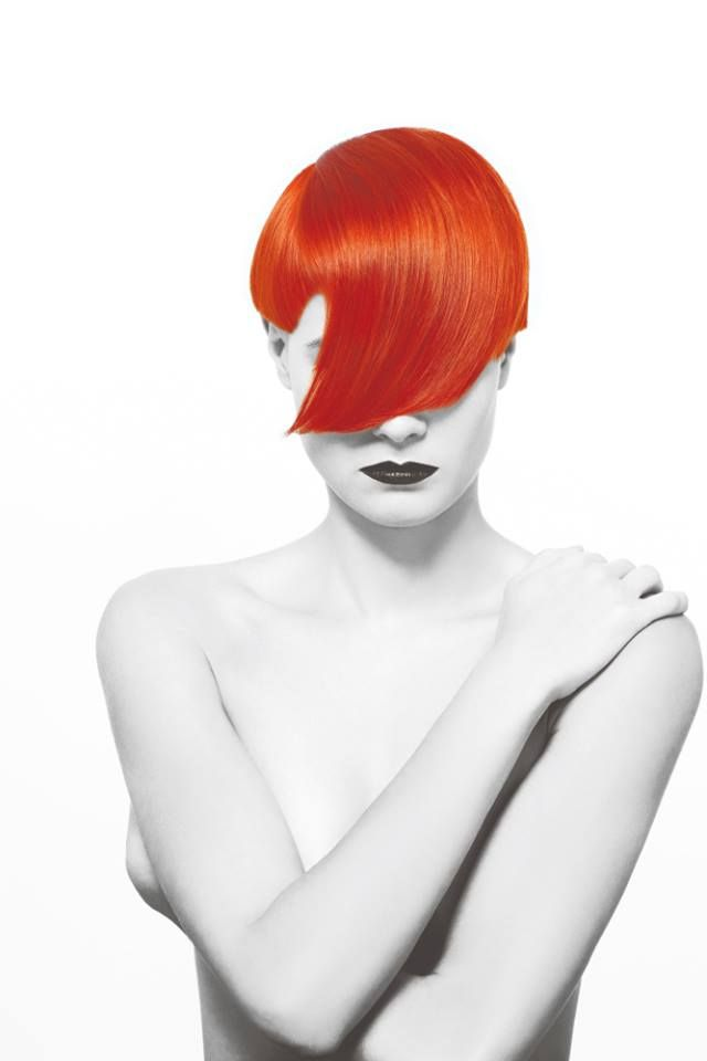 #Red Red is the color of blood and rubies, and is commonly associated with danger, sacrifice, passion, fire, anger, and--in China--happiness! With the kerfuffle surrounding this spirited color, who wouldn't want to be redhead at least once during their lifetime? Stylist and colorist: Petra Mechurová,