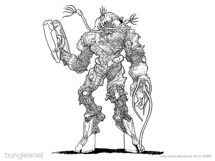 Halo Flood Coloring Pages