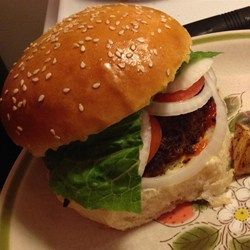 Homemade Hamburger Buns  - Allrecipes.com Would like to try half all-purpose and half whole wheat flour next time.  Large, fluffy buns.