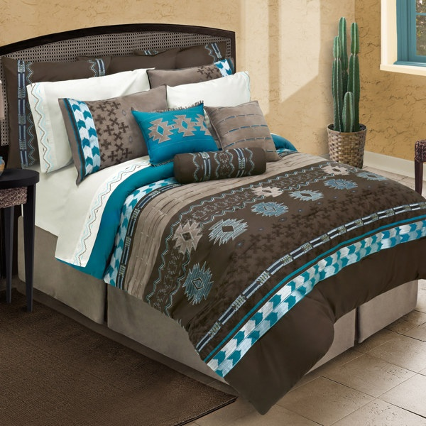 Cayenne Comforter Set from Bed Bath & Beyond. I really like teal and brown together!