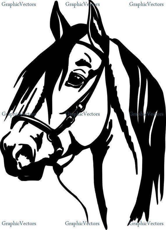 Horse Head Svg Dxf Vector Animal Stencil Horse