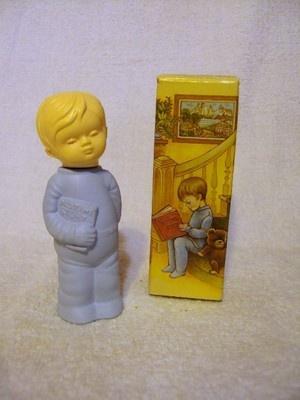 Vintage 70s Avon Victorian Style Little Boy Decanter Sweet Dreams Zaney Cologne