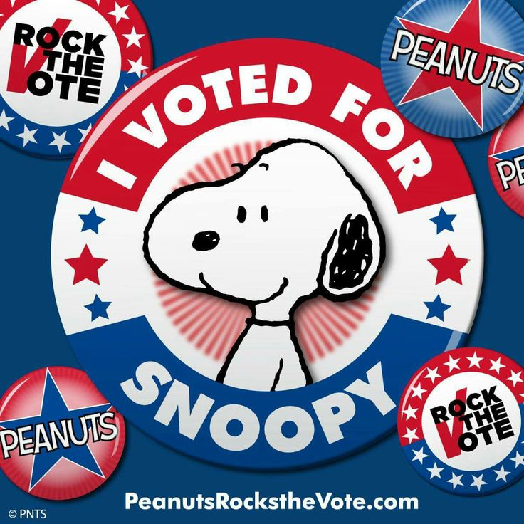 Which Peanuts character would you elect President? Visit PeanutsRockstheVote.com to learn about the candidate's platforms, cast your vote, hear from celebrities, and register to vote in the real fall election!