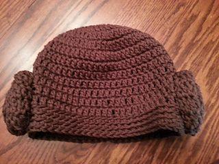 Princess Leia hat free crochet pattern