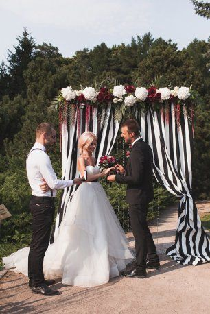 Полосатая свадьба. Выездная регистрация