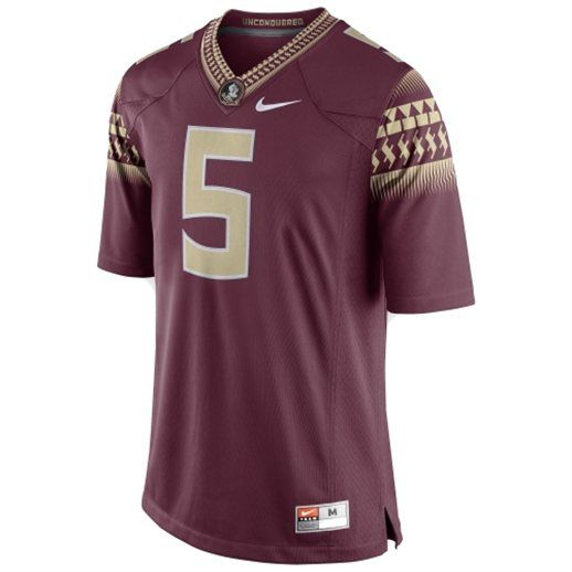 5 jameis winston white 2014 bcs bowl patch stitched ncaa jersey florida state seminoles nike limited