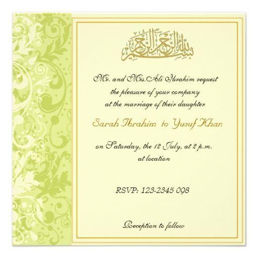 Muslim Wedding Invitation Wording: 9 Best Wedding Invitation Wordings Muslim Images On