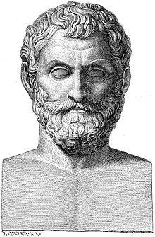 Tales de Mileto fue un filósofo, matemático, geómetra, físico y legislador griego. Vivió y murió en Mileto, polis griega de la costa jonia . Fue el iniciador de la Escuela de Mileto a la que pertenecieron también Anaximandro (su discípulo) y Anaxímenes (discípulo del anterior). En la antigüedad se le consideraba uno de los Siete Sabios de Grecia.
