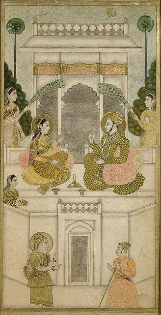 The Sultan of Golconda, Quli Qutb Shah (?), Seated with His Consort by thesandiegomuseumofartcollection, via Flickr