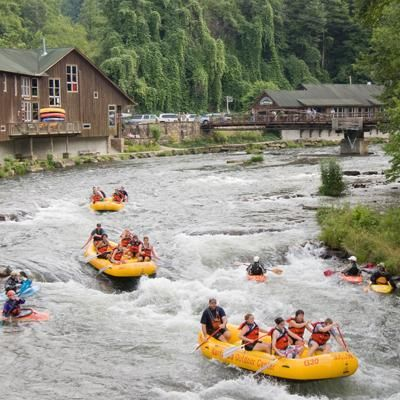 Nantahala Outdoor Center. White Water Rafting, Soooo much fun, even though the water was FREEZING!!! I had the best time ever