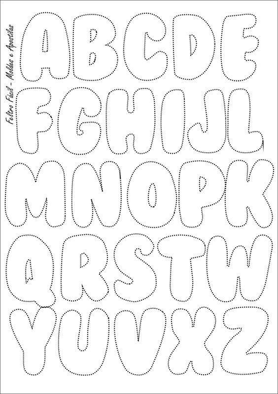 Feltro Fácil: Molde do Alfabeto:
