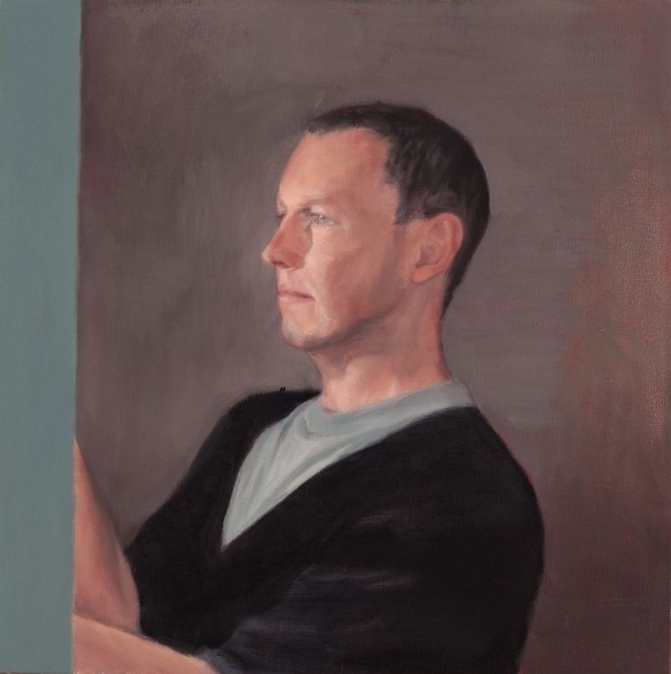 "SPA TOP40 2013 - David Jackson  //  ""Self-portrait""  /  Oil on Canvas  /  50x50cm"