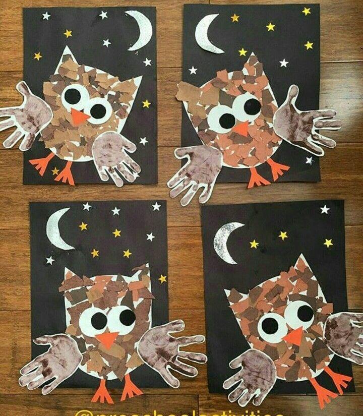 Buhos para pintar con temperas - Crafts All Over