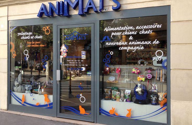 Création d'une vitrine pour le salon Animal's
