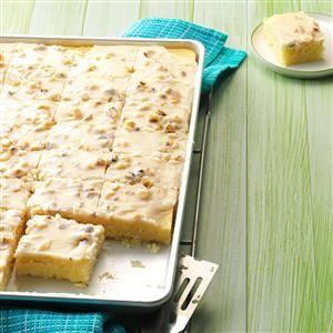 White Texas Sheet Cake Recipe | Taste of Home