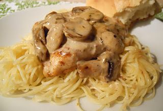 """Carrabas' champagne chicken: """"This was a super easy meal that tasted much more complicated than it was."""" Perfect easy but delicious Valentine meal."""