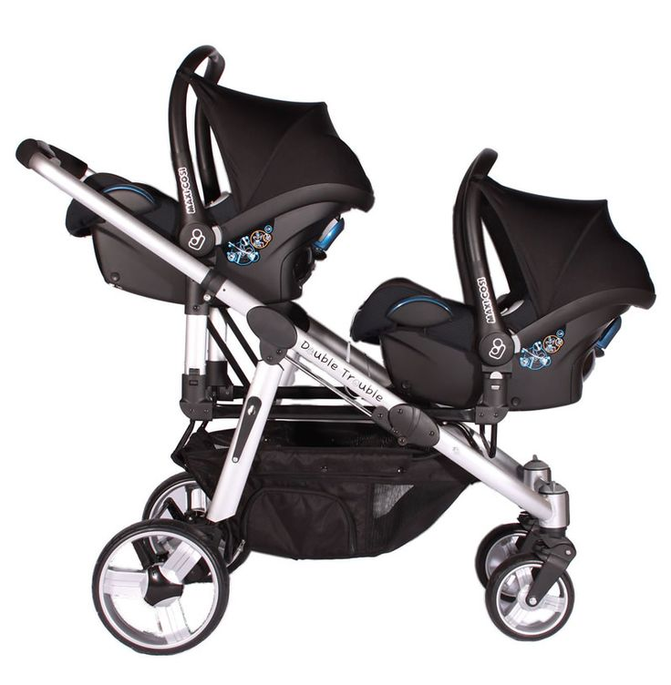 Transport your babies in style with this modern trendy and sophisticated travel system twin pramtwin