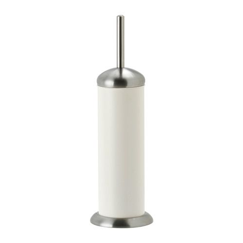 IKEA - MJÖSA, Toilet brush/holder, Interior plastic container is easy to remove for cleaning.The brush is replaceable so you can keep the handle and combine it with LOSSNEN replacement brush.
