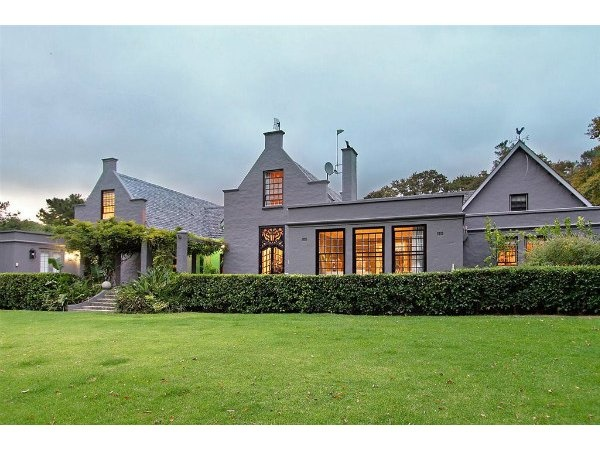 House in Constantia, painted grey...Originally White Cape Dutch style