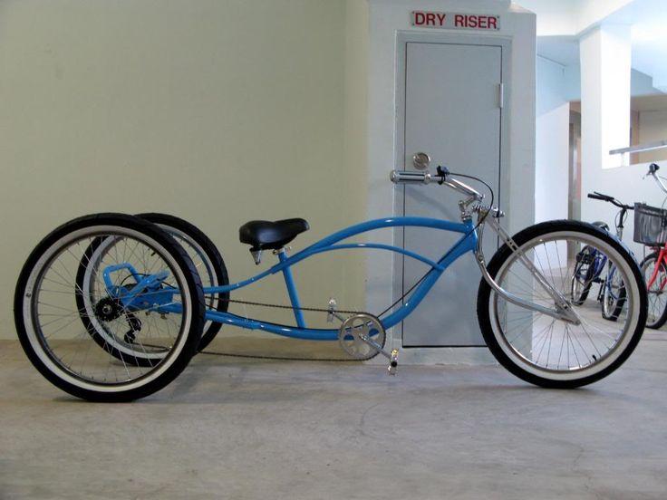 bicycles | Stretch Trike Cruiser Conversion - Motorized Bicycle - Engine Kit ...