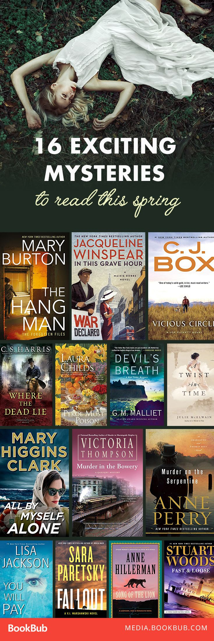 16 mystery books worth reading. Featuring historical mysteries, detective mysteries, and more.
