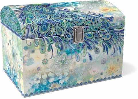 Paisley Peacock Treasure Trunk