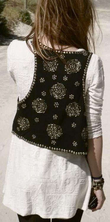 Waistcoat and white