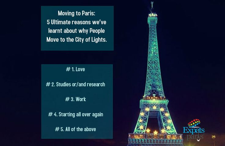 Moving to #Paris! 5 Ultimate reasons
