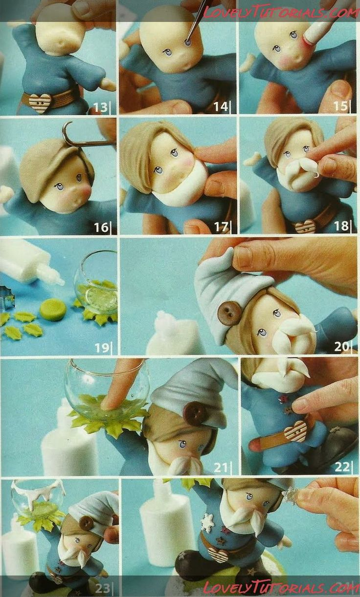 "МК лепка ""Эльф"" -Elf cake topper tutorial - Мастер-классы по украшению тортов Cake Decorating Tutorials (How To's) Tortas Paso a Paso"
