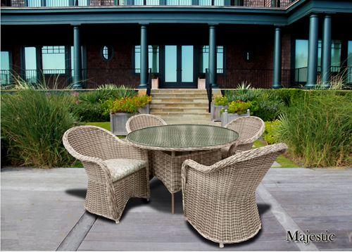 Majestic Outdoor Patio Wicker Dining Furniture   9860 By Beachcraft    Beachcraft Rattan   Pinterest