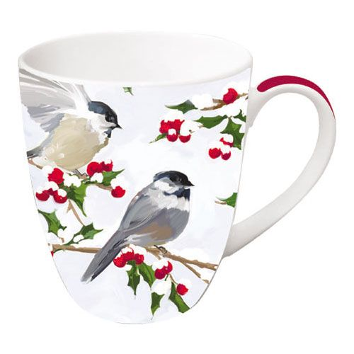 Chickadees & Holly Mug | Paperproducts Design Store