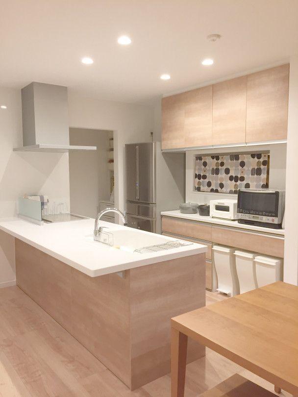 広い空間を生み出す北欧テイストなキッチン Stgram69さんのキッチンを探索 Lixil リクシル アレスタ キッチンデザイン キッチン間取り リビング キッチン