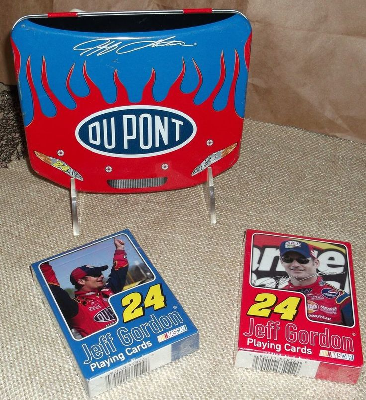 Jeff Gordon NASCAR 2005 Playing Cards Sealed Two Packs with Tin Number 24 #NASCAR $9.99 for sale on ebay