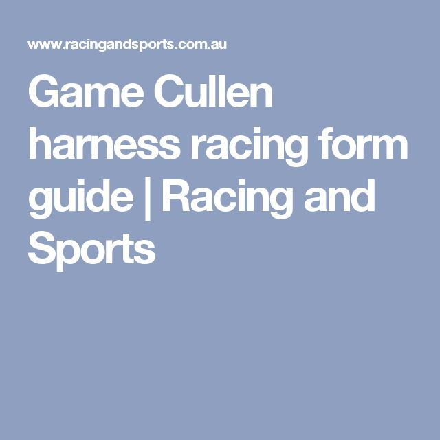 Harness Racing  Daily Racing Form  Harness Racing