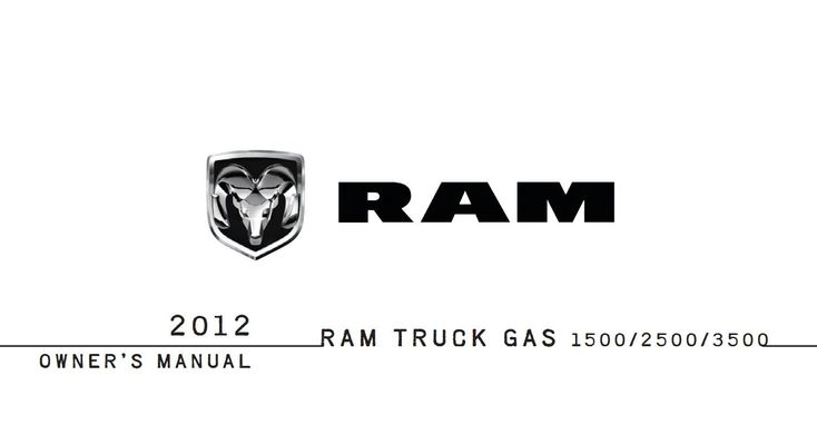 Ram 1500 2012 Owner's Manual has been published on