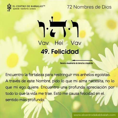 49- felicidad. 72 Nombres de Dios.