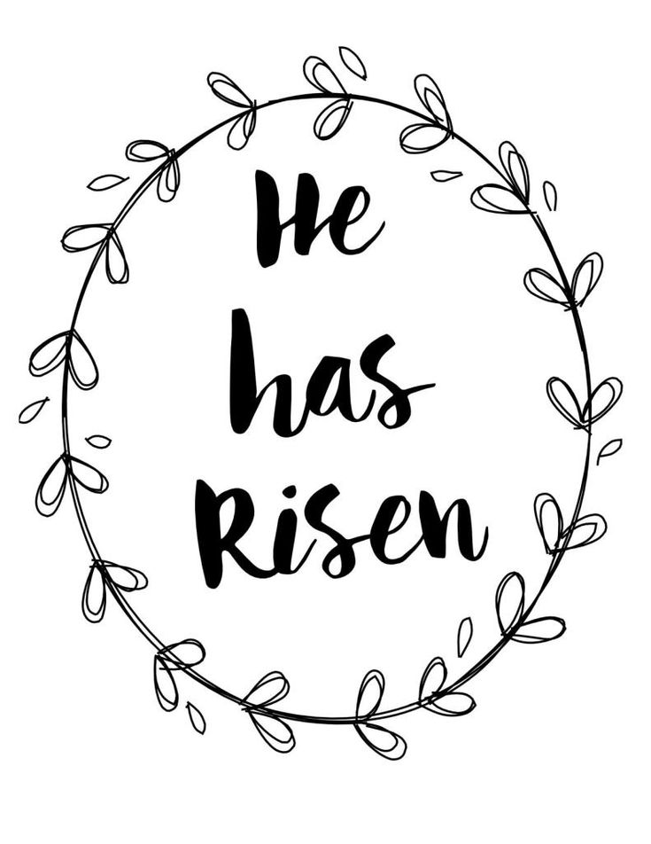 free print DIY He Has Risen Easter Banner - Hymns and Verses