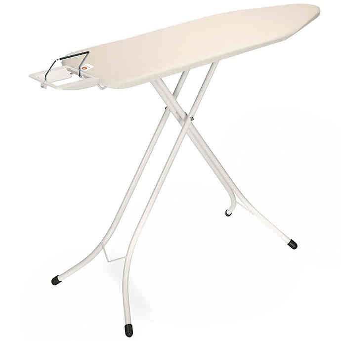 Brabantia 49 Inch X 15 Inch Ironing Table With Ivory Frame And